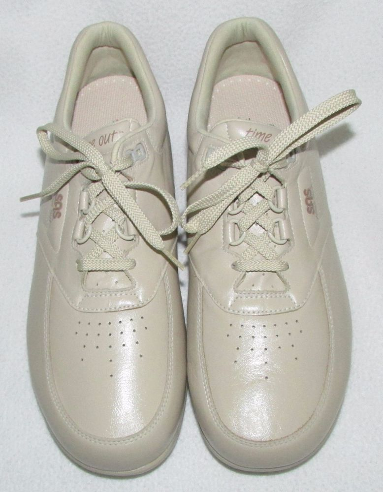 7b1144af10 NEW SAS TIME OUT Bone Off White Walking Shoes Oxfords Comfort Sneaker Mens  10.5 #sas #WorkSafety