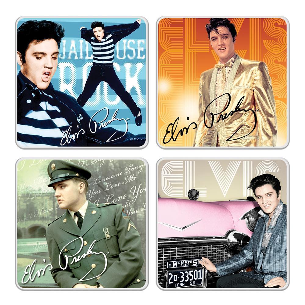 Elvis Presley Collectibles 2018 Vandor Ceramic Coaster Set