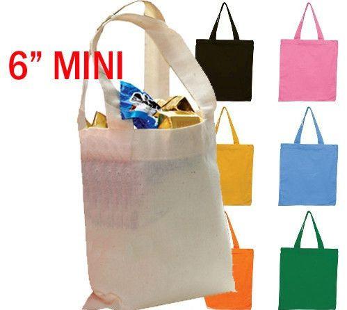 6 Mini Cotton Tote Bag With Fabric