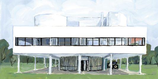 La Villa Savoye, maison de fadas | Jean philippe and Illustrations