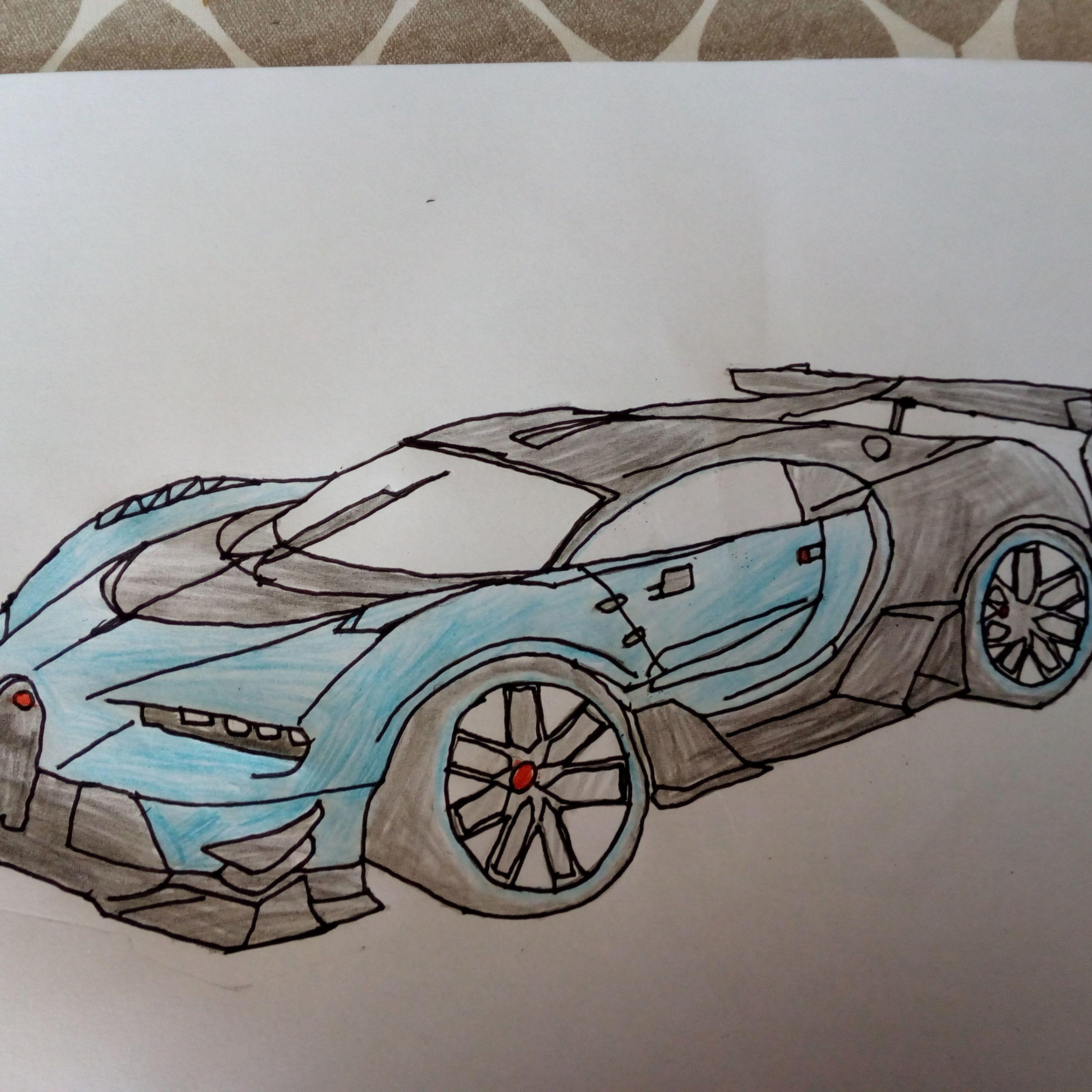 Drawing Bugatti Chiron Bugattichiron Bugatti Chiron Bugatti Car Drawings