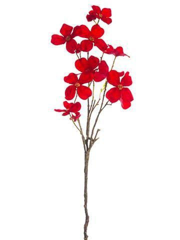 Dogwood silk flower spray in red295 silk flowers flower spray flower these beautiful red dogwood silk mightylinksfo Image collections