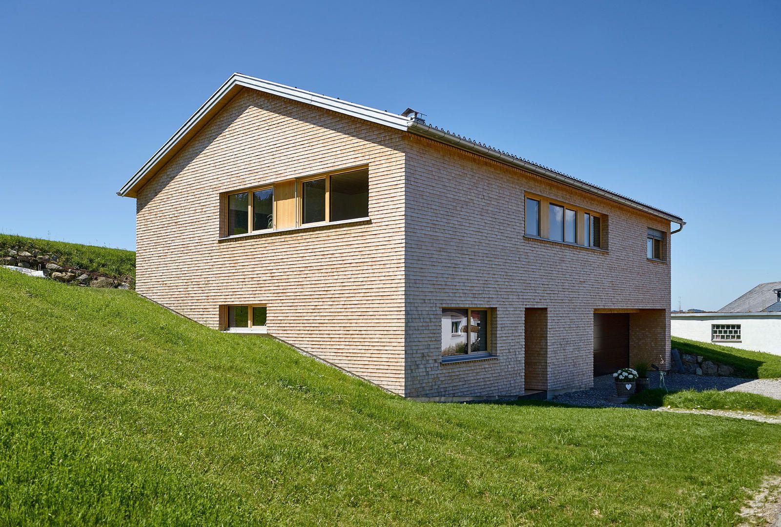 EFH Heim Vorarlberger Holzbaukunst Bau, Haus außen