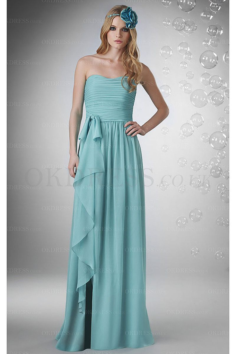 Long floor length sheath zipper strapless bridesmaid dresses by long floor length sheath zipper strapless bridesmaid dresses by okdress uk ombrellifo Image collections