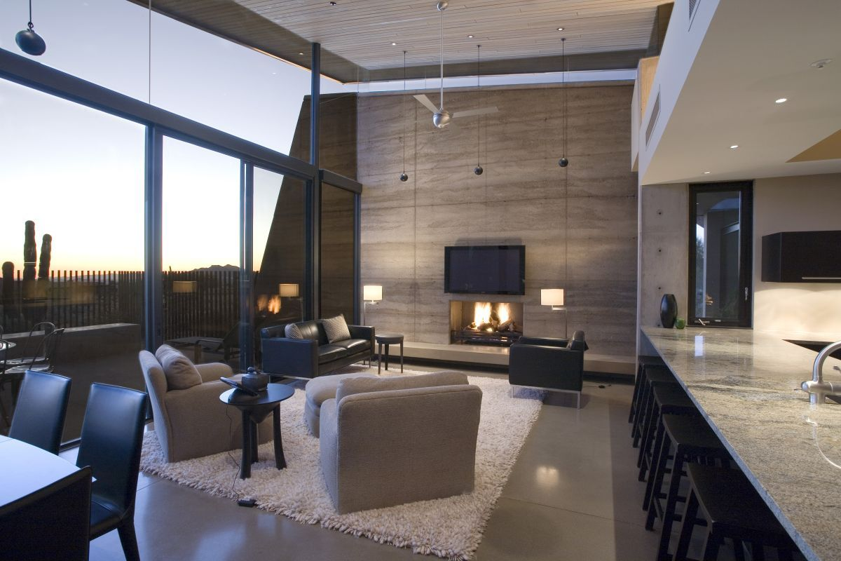 Color scheme- grey, black, white, brown/taupe The Redding Residence ...