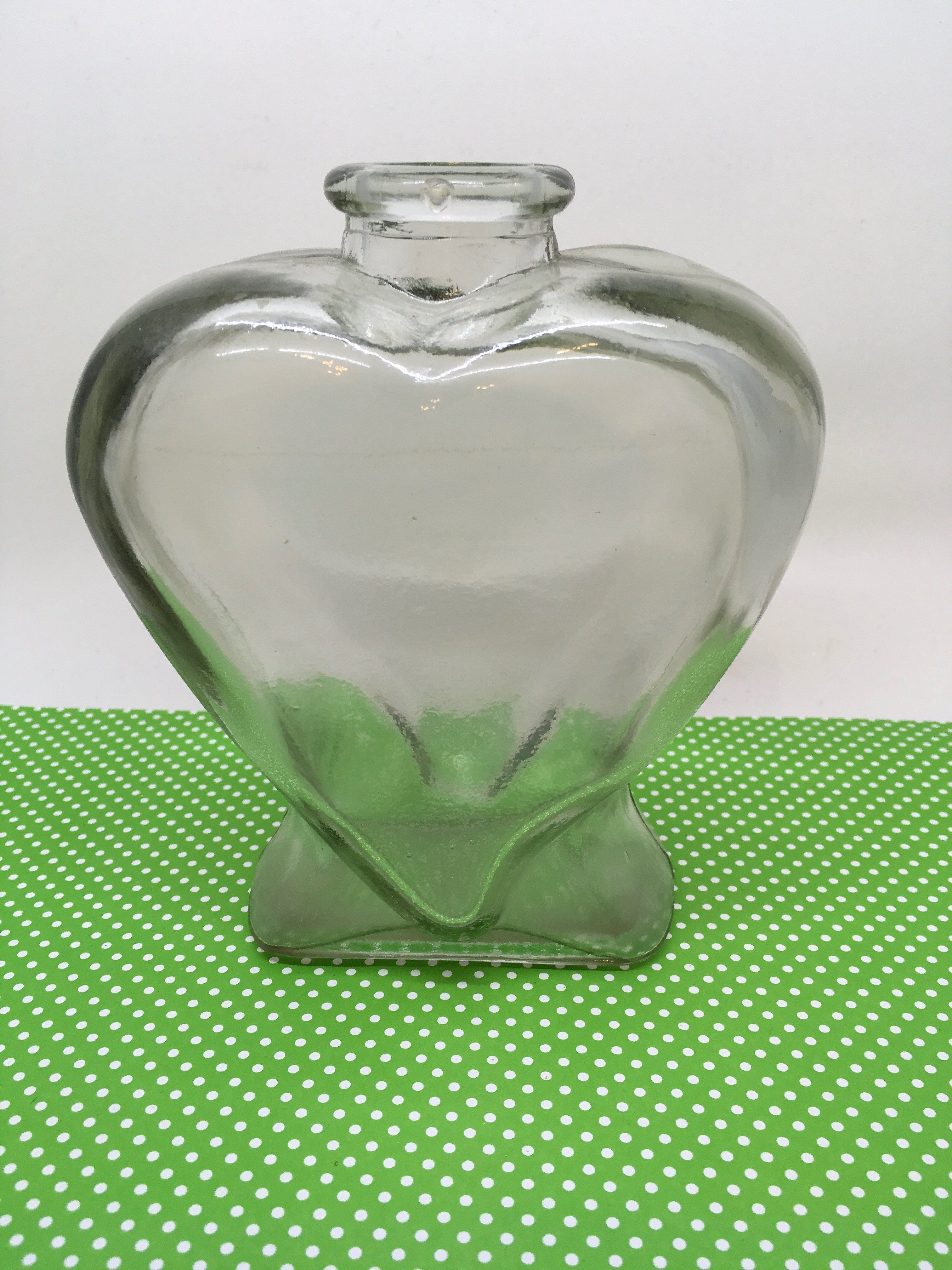 Bottle vase green glass heart shaped with marking 5 on bottom bottle vase green glass heart shaped with marking 5 on bottom reviewsmspy