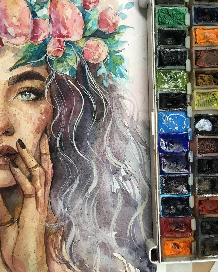 Mensch Zeichnungen Aquarellbilder Portrait Zeichnen