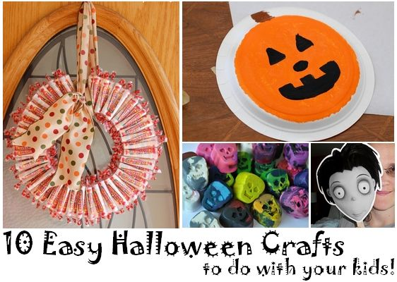 10 Easy Halloween Crafts Love the bat wall in this blog - will - halloween class decoration ideas