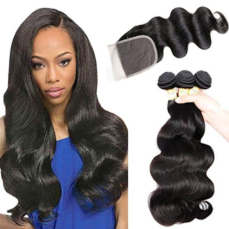 Virgin hair piece free sample deep wave hair bundles with