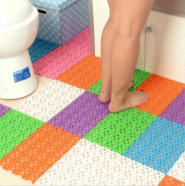 Joining Together Fashion Color More Toilet Mat Table Mat Pvc Bath Mat Shower Mat Bathroom Rugs Color Random Bathroom Floor Mat Bathroom Bath Plastic Bath Mat