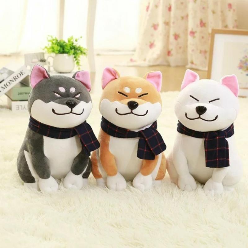 US Kawaii Shiba Inu Plush Doll Animal Puppy Dog Stuffed Cute Doge Fur Soft Toy