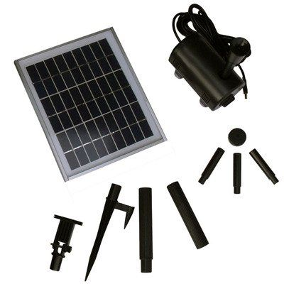 Sunnydaze Solar Pump And Solar Panel Kit With 56 Inch Head 5w Solar Panel With Ground Spike Measures 10 5 X 9 Solar Panels Solar Panel Kits Best Solar Panels