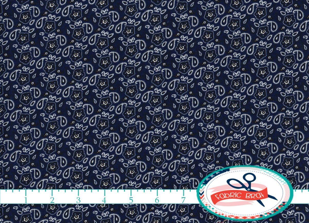BLUE BANDANA Fabric by the Yard Fat Quarter Navy Blue Fabric BANDANNA Fabric Western Quilting Fabric 100% Cotton Fabric Apparel Fabric t4-25 by FabricBrat on Etsy https://www.etsy.com/listing/203418068/blue-bandana-fabric-by-the-yard-fat