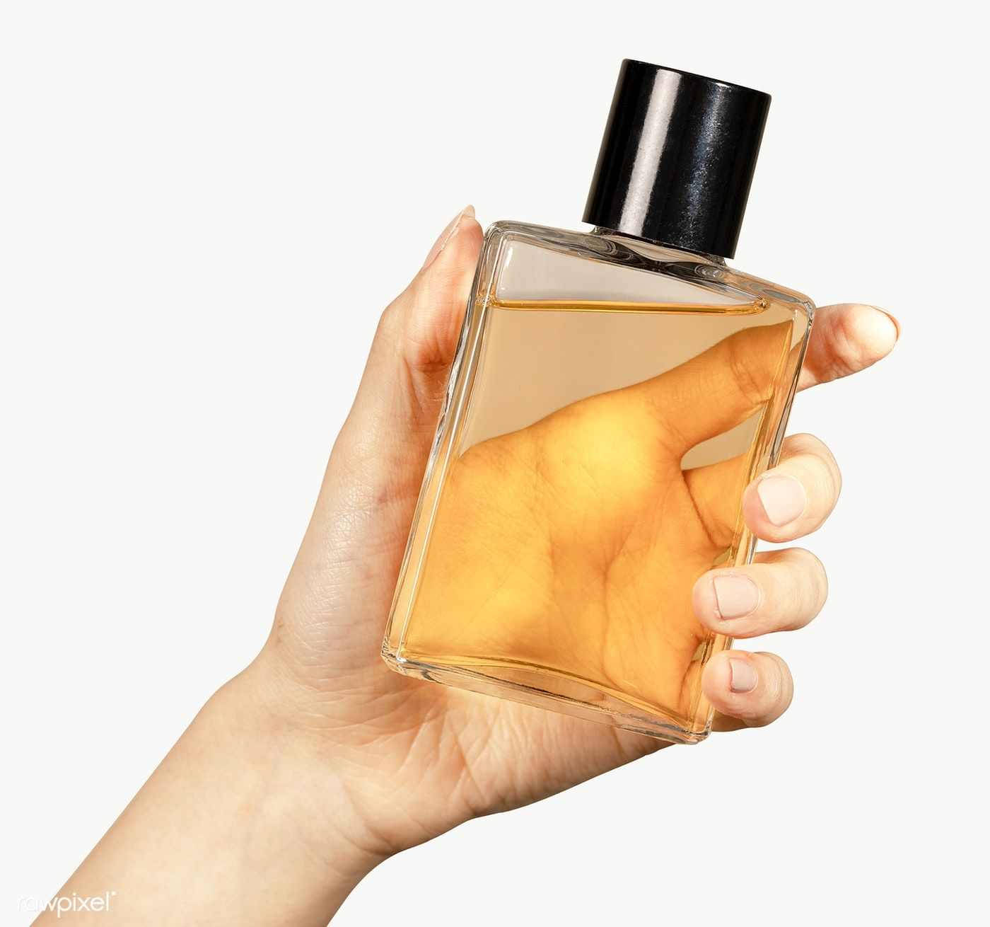 Woman Holding A Perfume Glass Bottle Transparent Png Premium Image By Rawpixel Com Mckinsey Bottle Drawing Perfume Bottle
