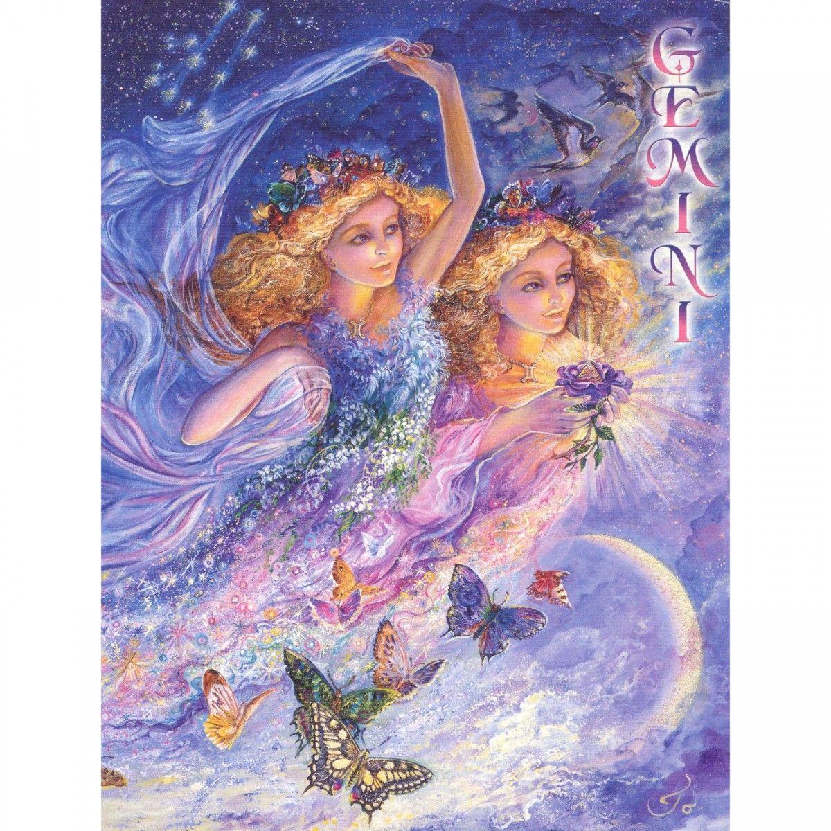 GEMINI Josephine Wall Zodiac Fantasy Art Poster New