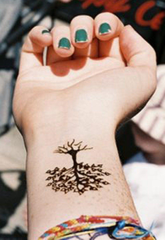 65fb50ef43523 Small Wrist Tattoo Ideas fro Women - Family Oak Tree at MyBodiArt.com
