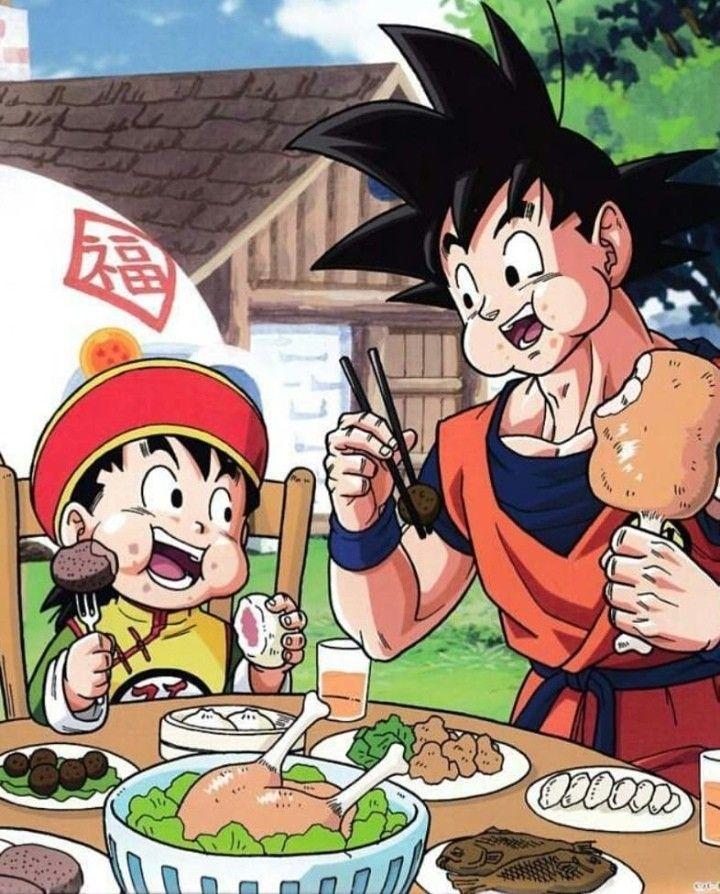 Eating With Dad Anime Dragon Ball Dragon Ball Z Anime
