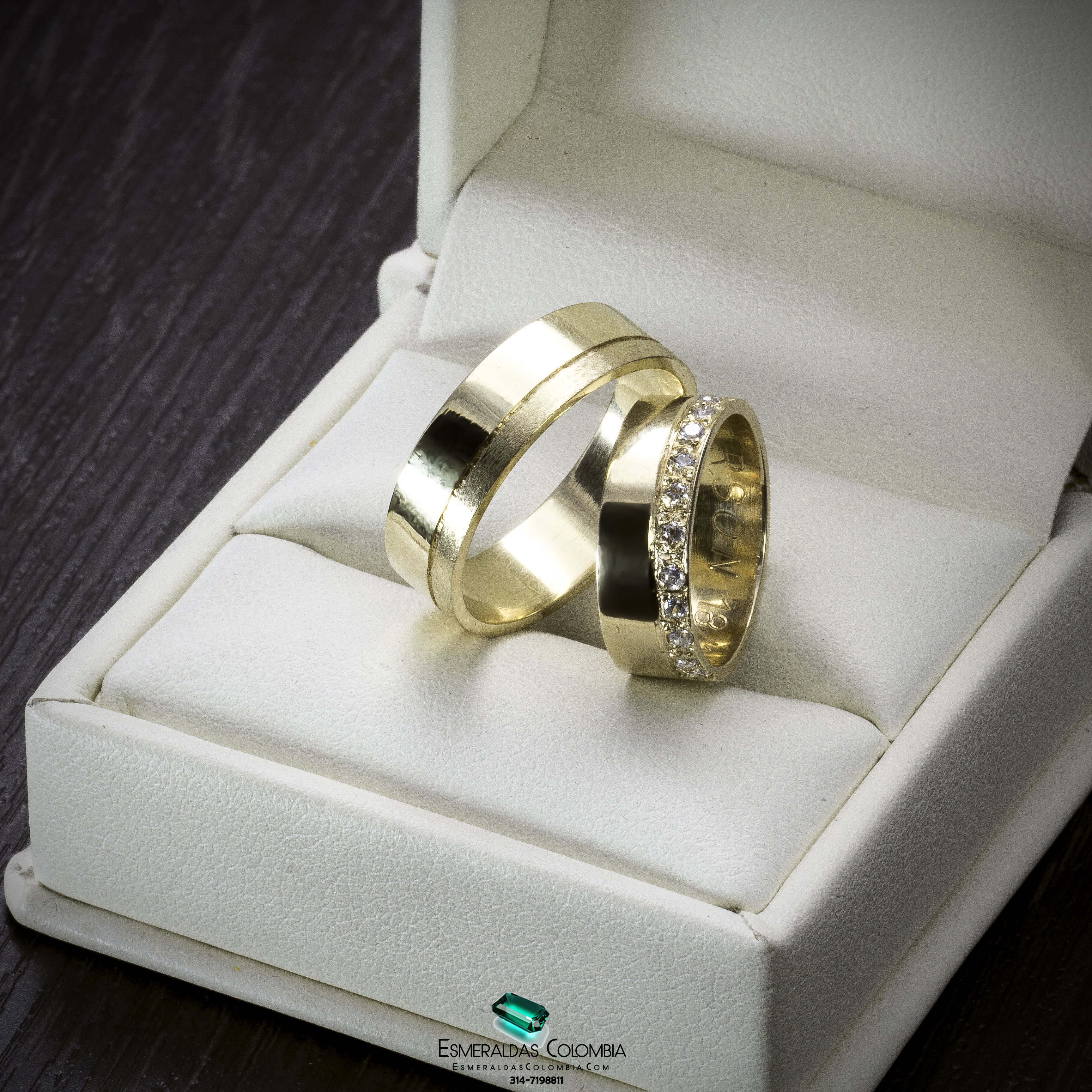 8993268b917c Argollas Matrimonio Boda Oro 18k O Plata Diamante Swaroski   esmeraldascolombia Facebook   esmeraldascolombia Instagram