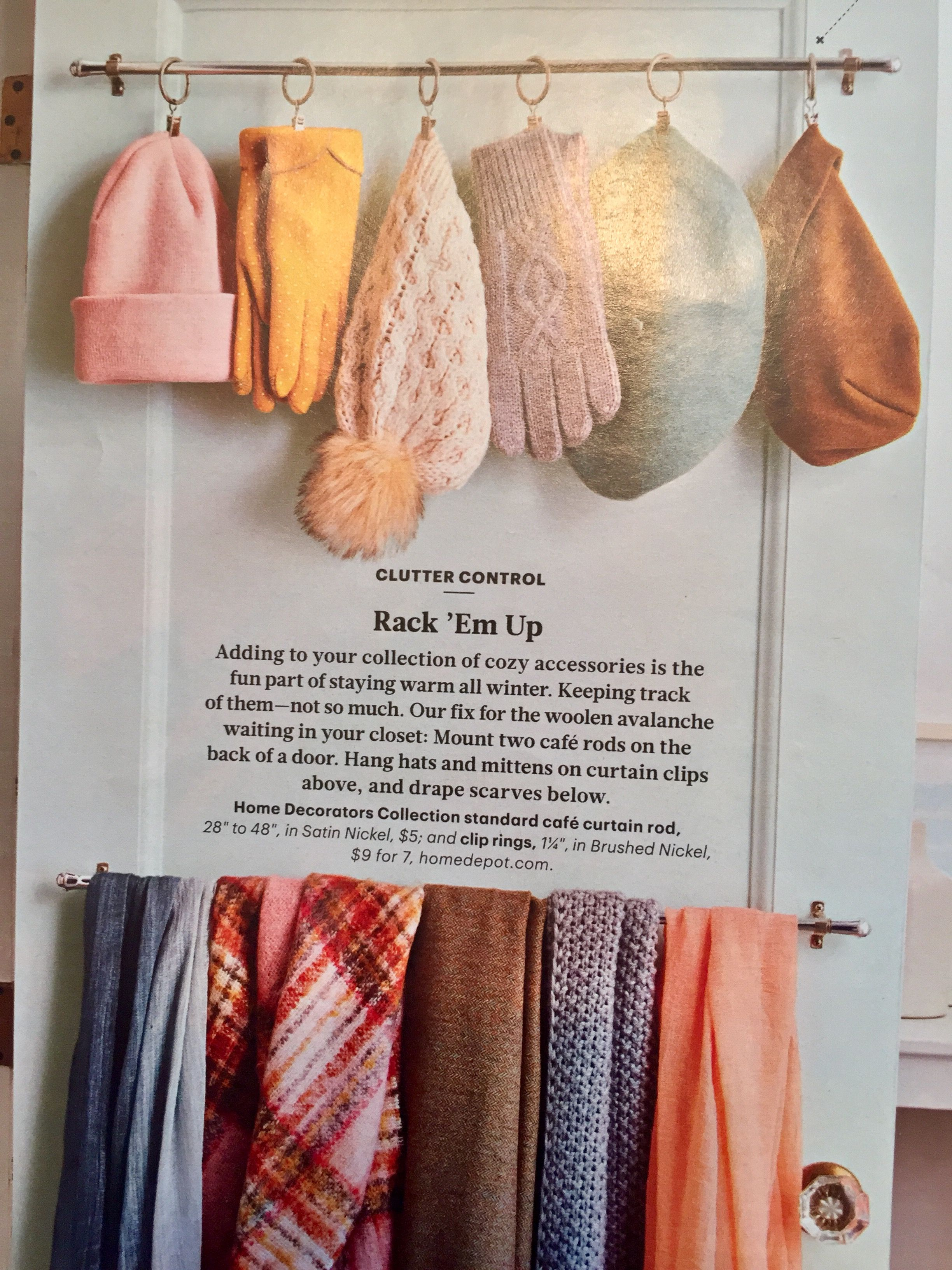 Clever idea for hatscarf storage with images scarf