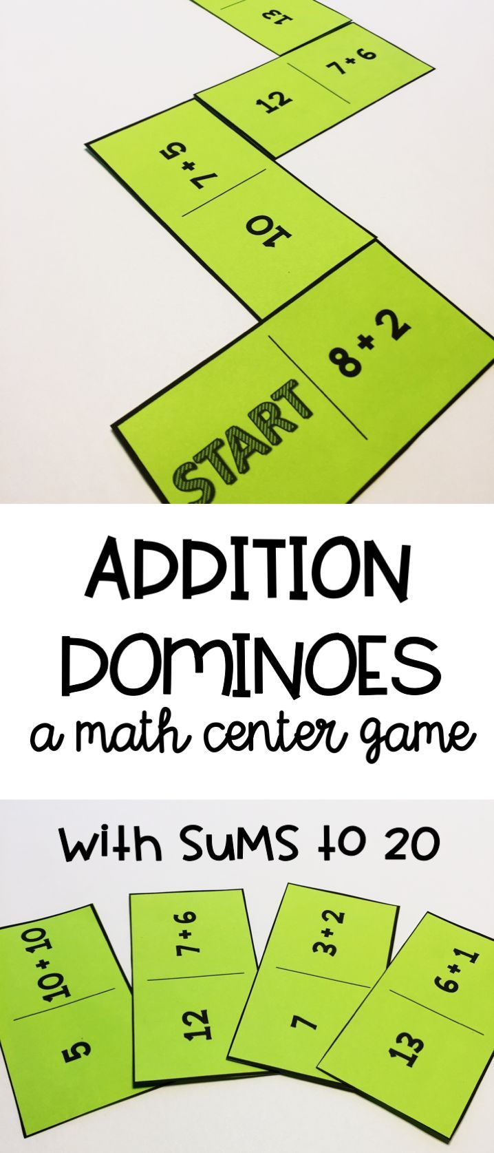 Addition Practice Dominoes | Addition facts, Math and Students