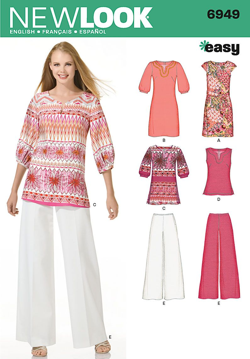 Simplicity Naaimode nr.9: Womens Dress, Tunic or Top Sewing Pattern ...
