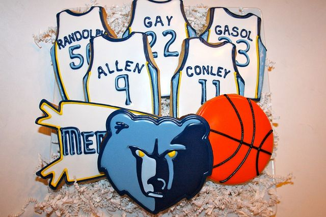 Memphis Grizzlies Cookies by Cookie Couture, LLC, via Flickr