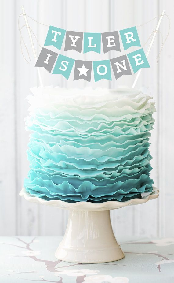 1st Birthday Cake Topper First Birthday Cake Banner By Modparty