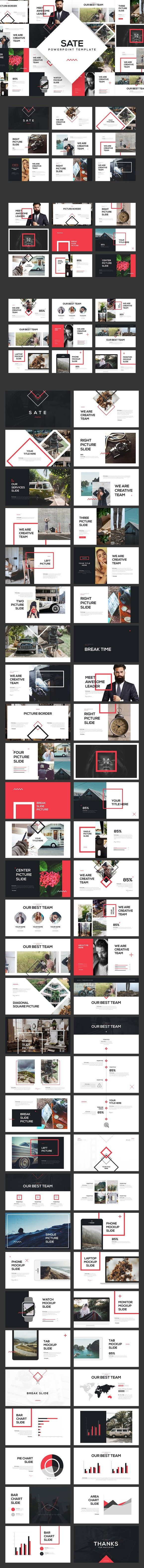 SATE PowerPoint Template | Presentation templates, Template and Layouts