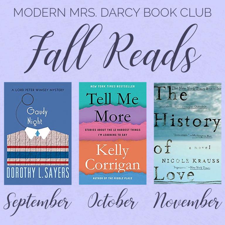 Announcing Our Fall Book Club Picks Modern Mrs Darcy Fallen Book Book Club Book Club Books