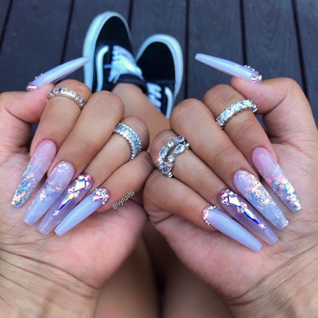 On Instagram Ice Queen Using The Best Acrylic System Valentinobeautypure Vbp B Pretty Acrylic Nails Long Acrylic Nails Bling Acrylic Nails