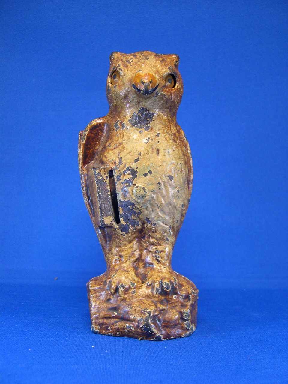 Cast Iron Owl Mechanical Bank With Books Aab Bowl Removed Mechanical Banks Cast Iron Antique Cast Iron