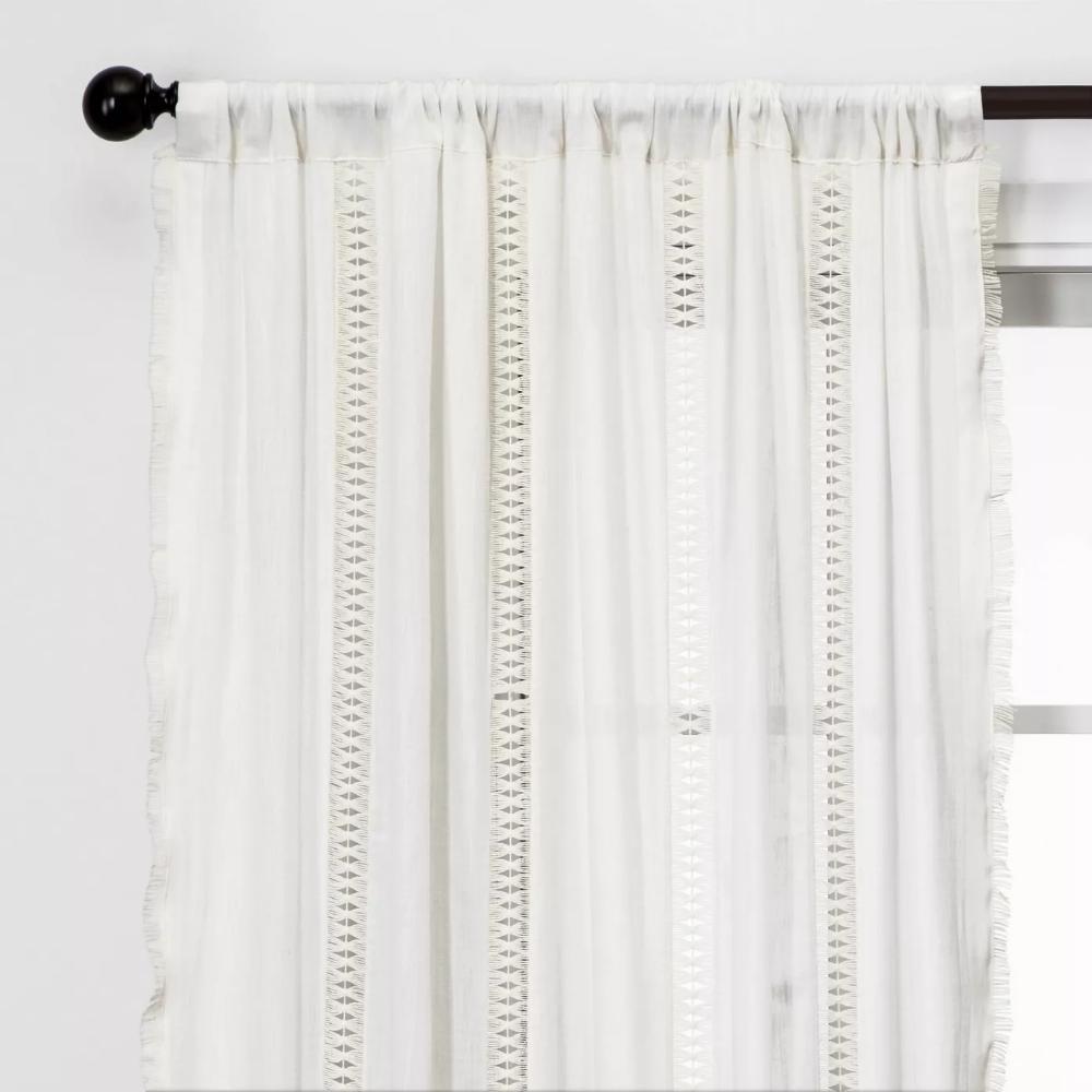 Lace Trim Light Filtering Curtain Panel Opalhouse Panel