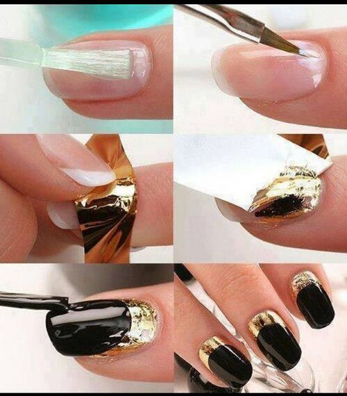 Cool Easy Nail Designs Step By Step Nails Pinterest Short