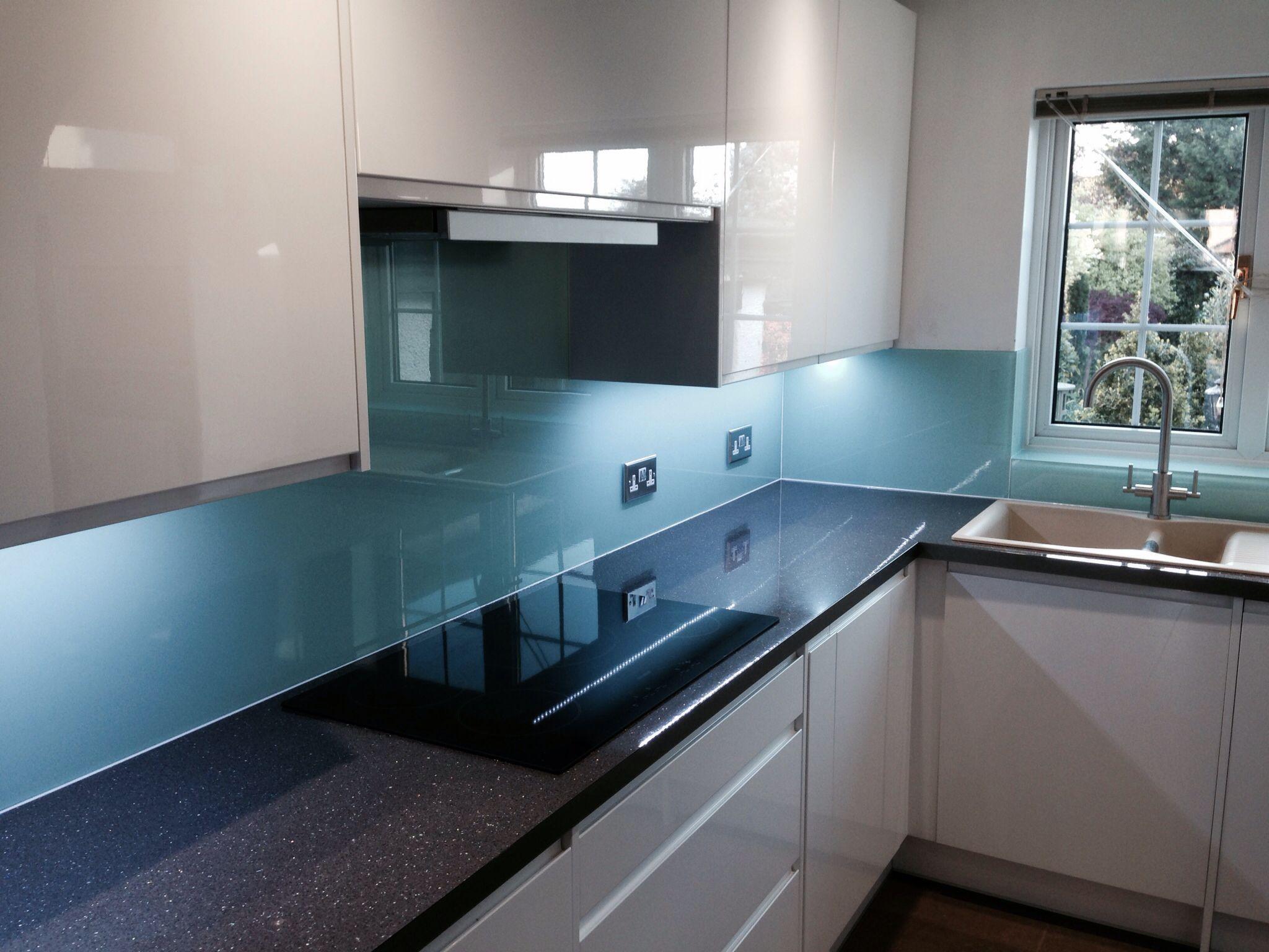 Glass Kitchen Worktops For Sale | Coloured Glass Splashbacks by ...