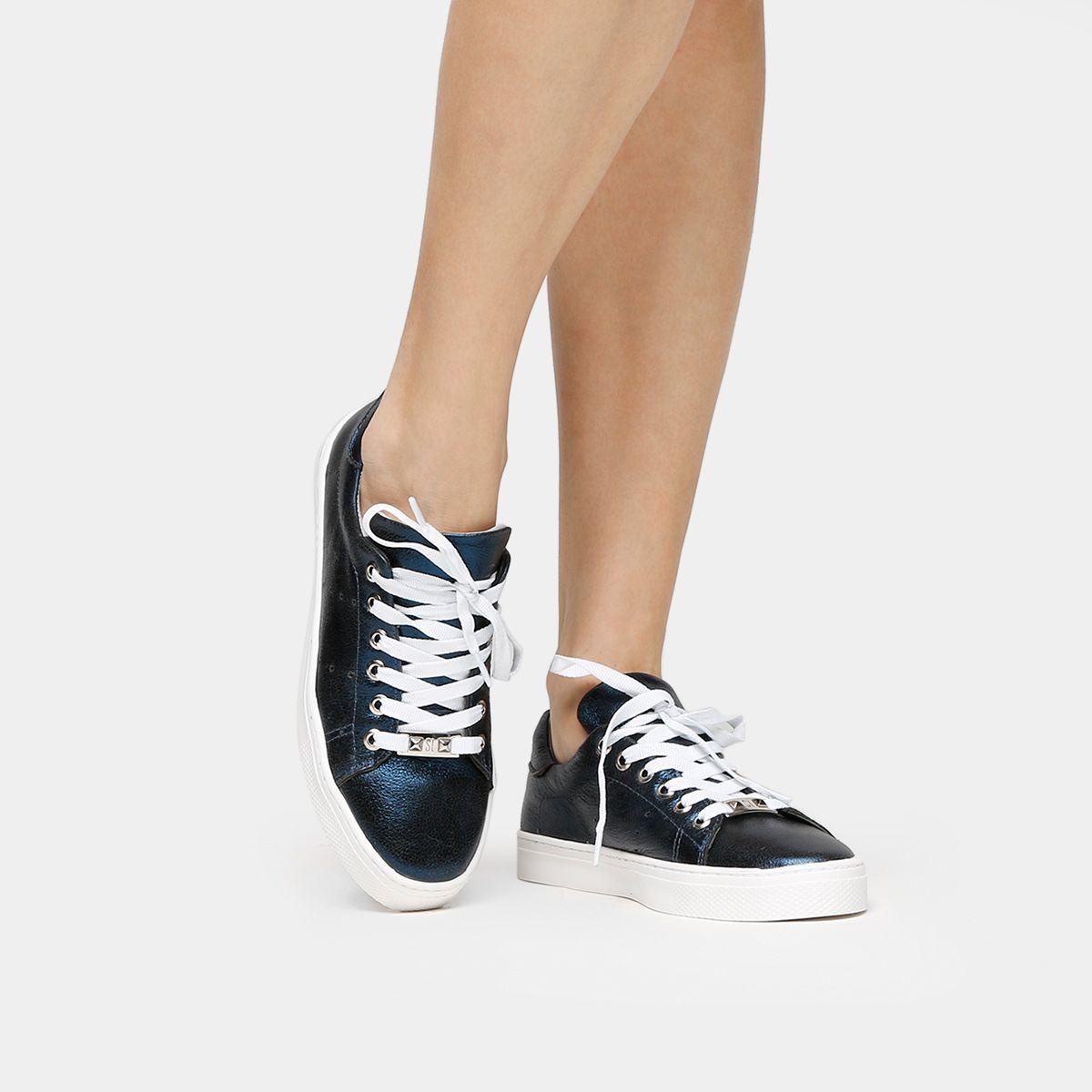 74c22ad35 Tênis Santa Lolla Recorte Metalizado Rosa   Zattini   Style :: Shoes