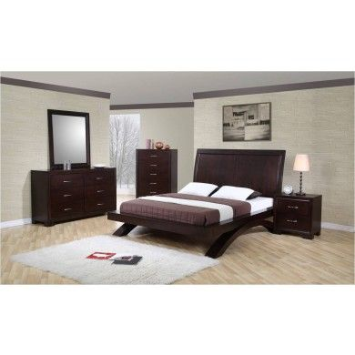 Shop for the Elements International Raven Platform Bed at Becker Furniture  World   Your Twin Cities  Minneapolis  St. RAVEN   7 PIECE BEDROOM SET    Home Decor    Pinterest   Raven