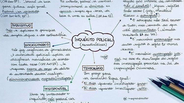 mapa mental policia civil