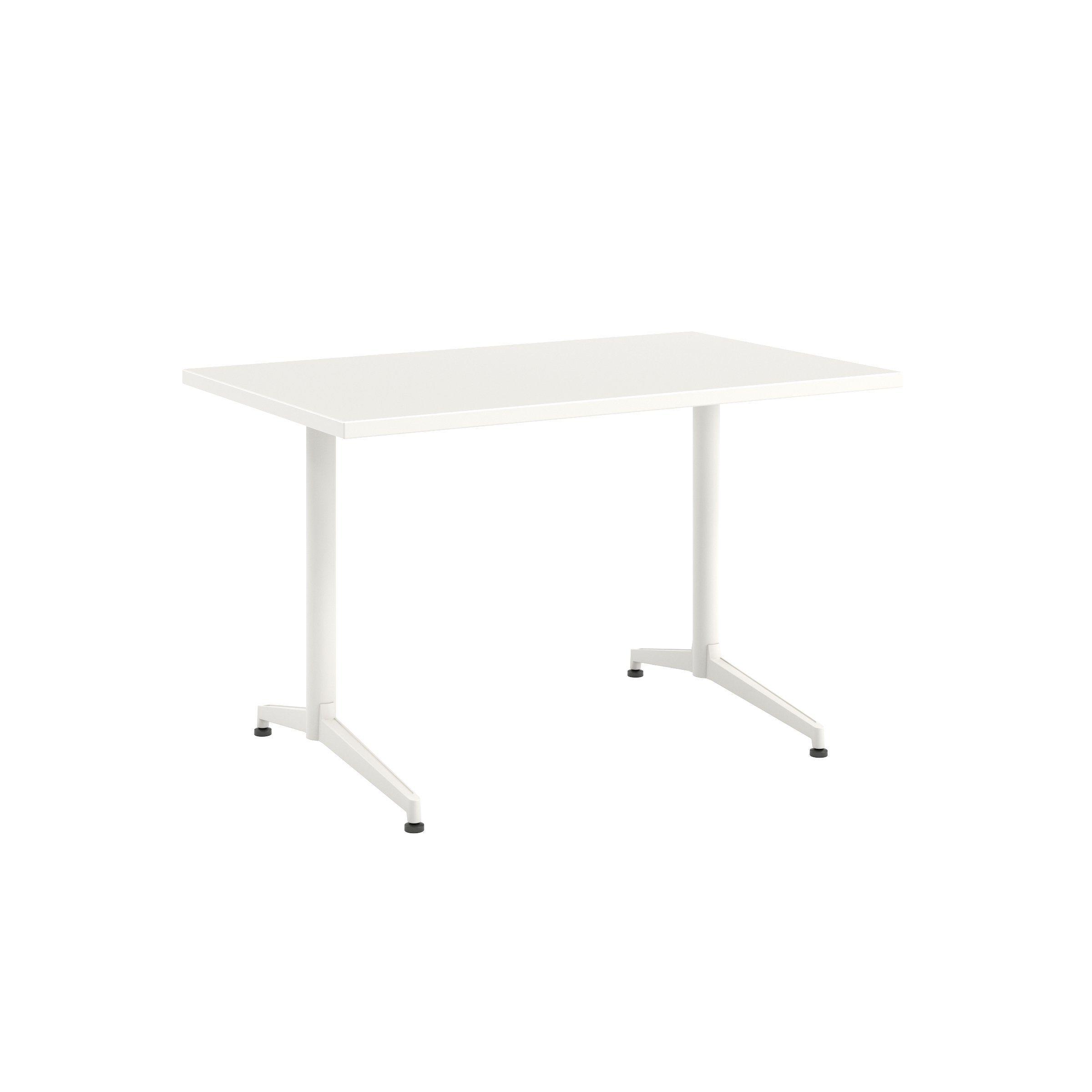 Photo of Jive Desk with C-Leg Base – 30D x 48W / Linen / Smooth Plast…