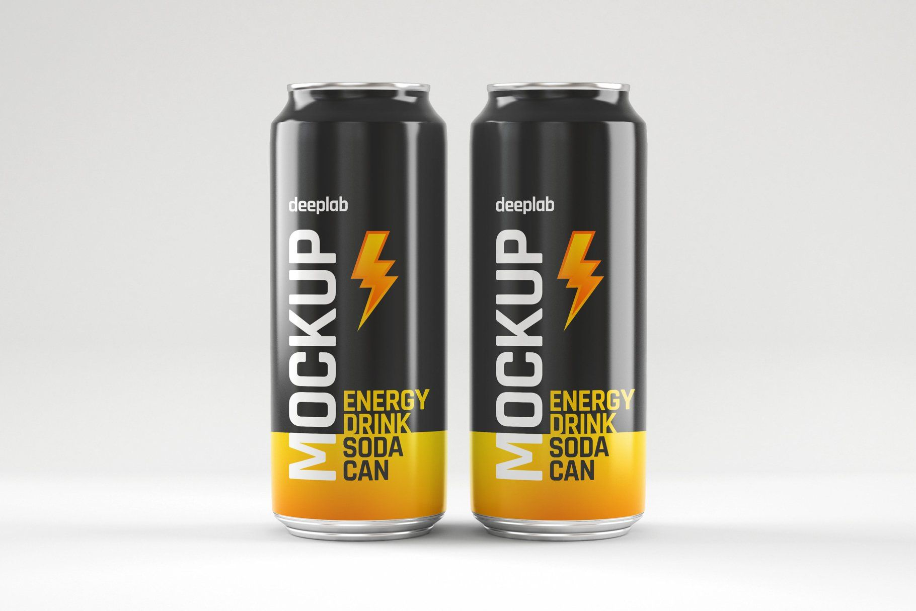 Glossy Soda Can Mockup Set Canning Soda Can Energy Drinks