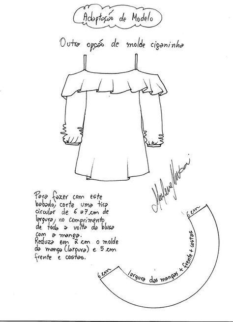 Patrón de Blusa Gipsy | Crochê | Pinterest | Costura, Blusas e Vestidos