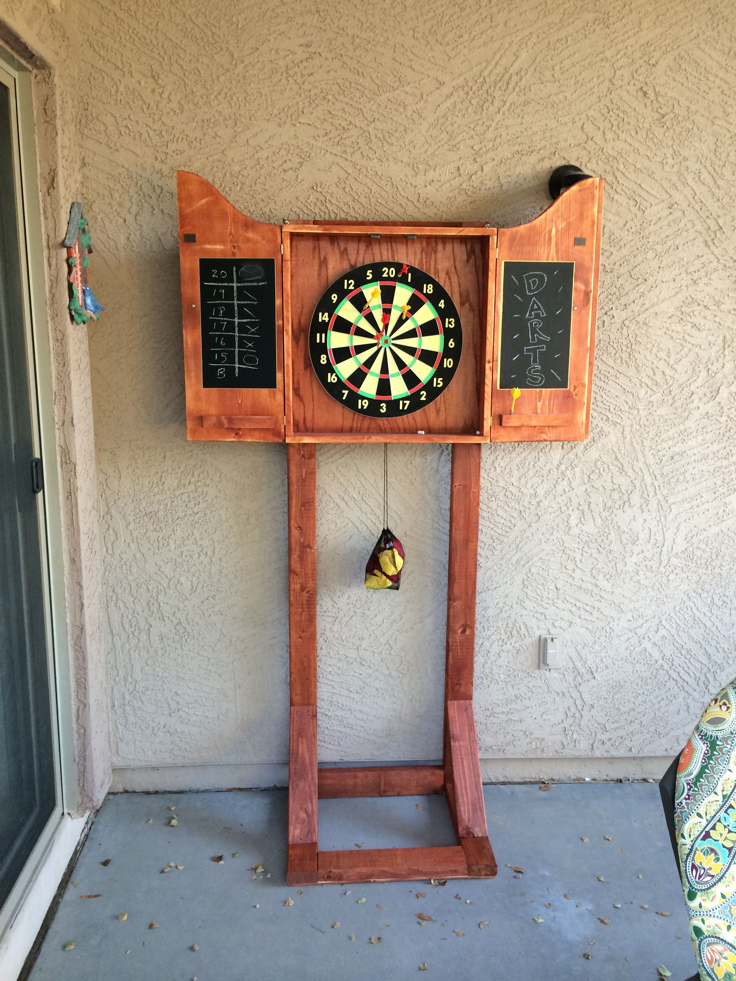 Outdoor Küche Diy Dart Board Cabinet Stand Wood Projects I 39ve Made