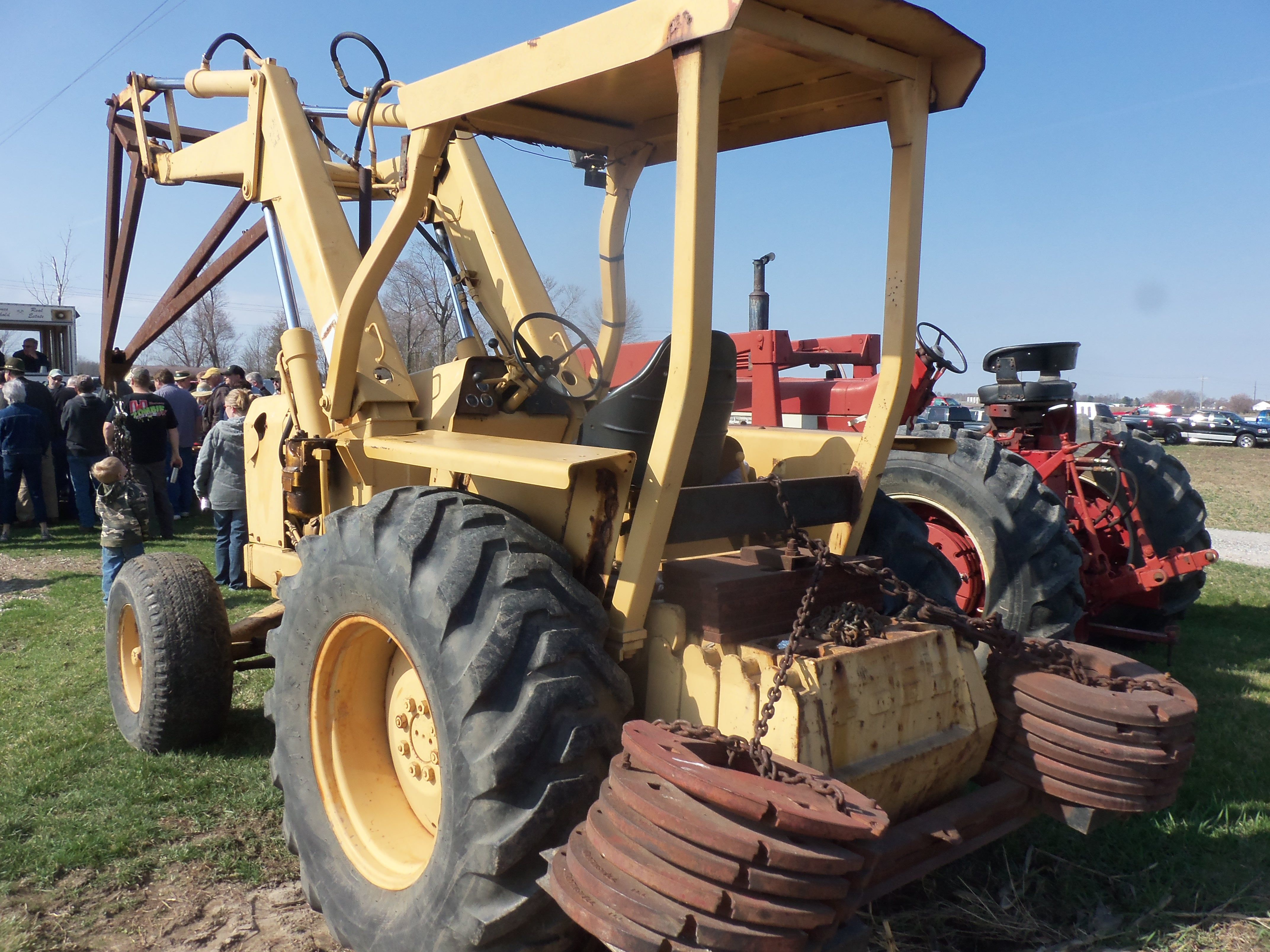 Ford 550 Tractor Loader Loaded Down With Rear Counterweights 8n