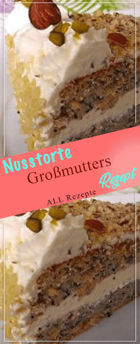 Nusstorte – Großmutters Rezept.#Kochen #Rezepte #einfach #köstlich #schnelletortenrezepte
