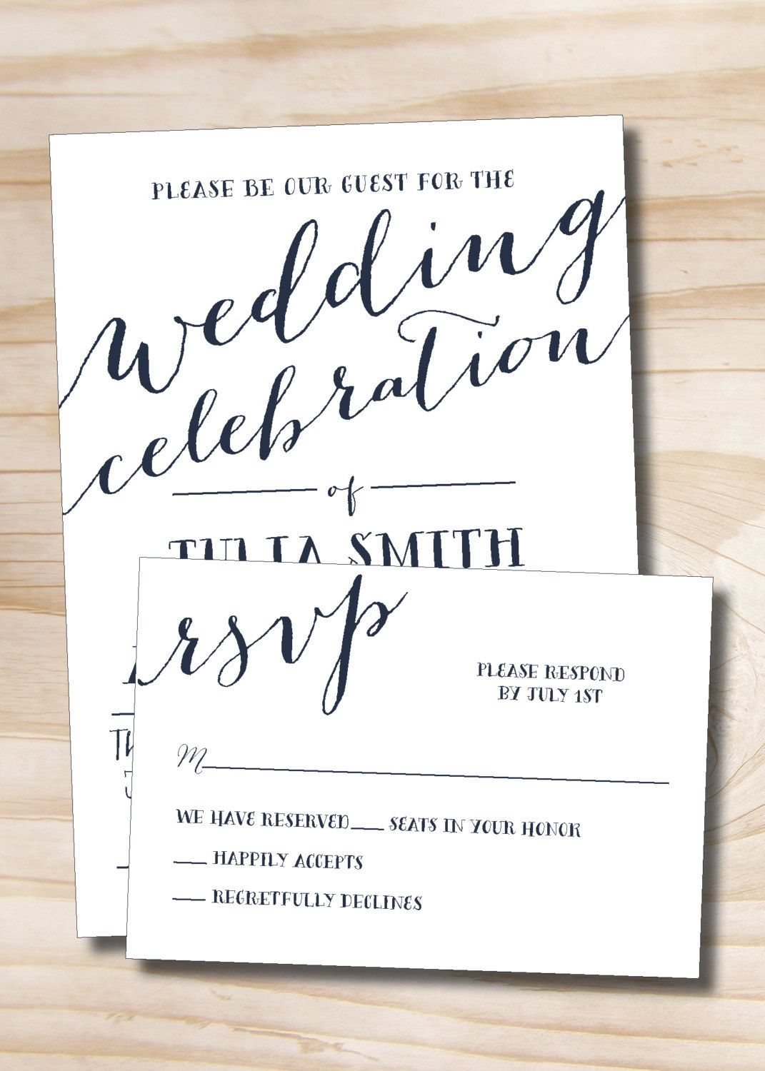 Rustic script celebrate wedding invitation response card 100 rustic script celebrate wedding invitation response card 100 professionally printed invitations response cards by stopboris Choice Image