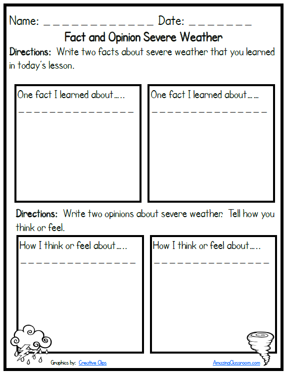 4th Grade Weather Worksheets Google Search