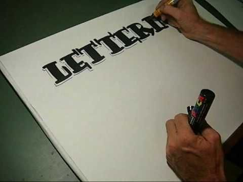 How to do pen Lettering freehand style lesson 2