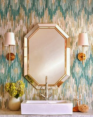 Elegant Small Bathrooms | Small Bathroom Chic: Elegant Mirrors Make Bathrooms Look Bigger