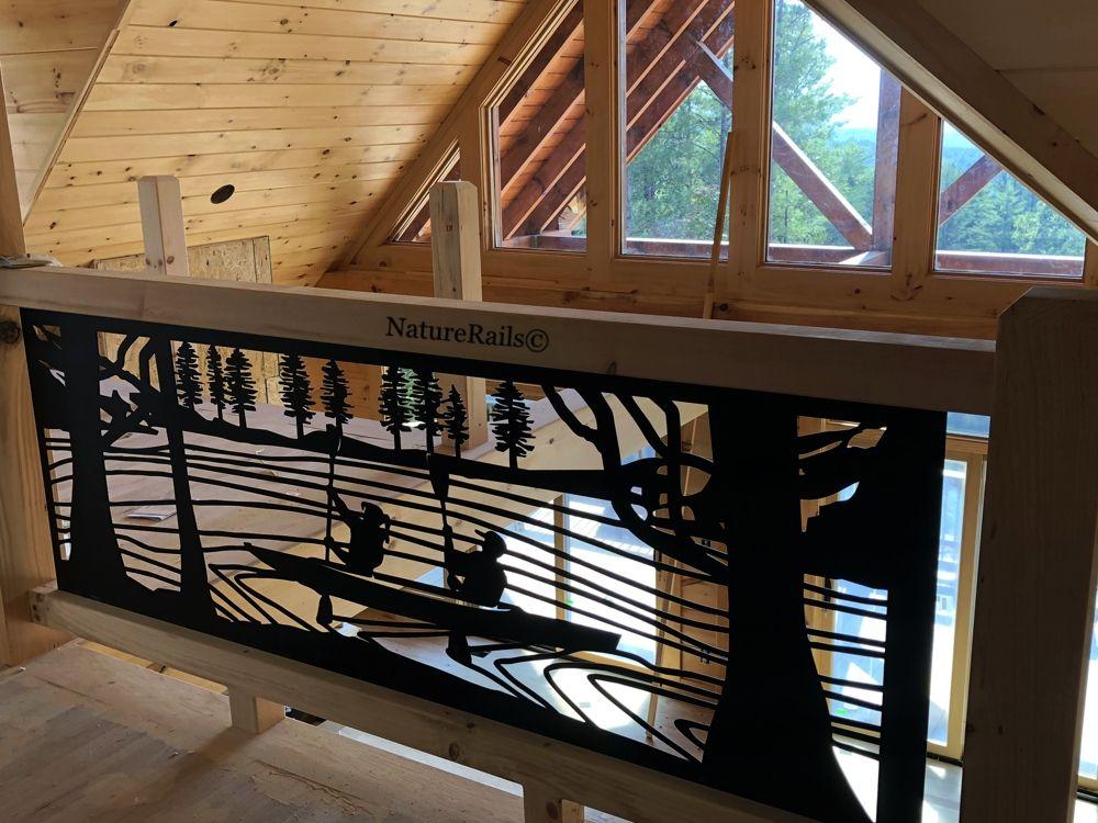 Custom Metal Railing Deck Stairs Balcony Rails Wildlife Railing