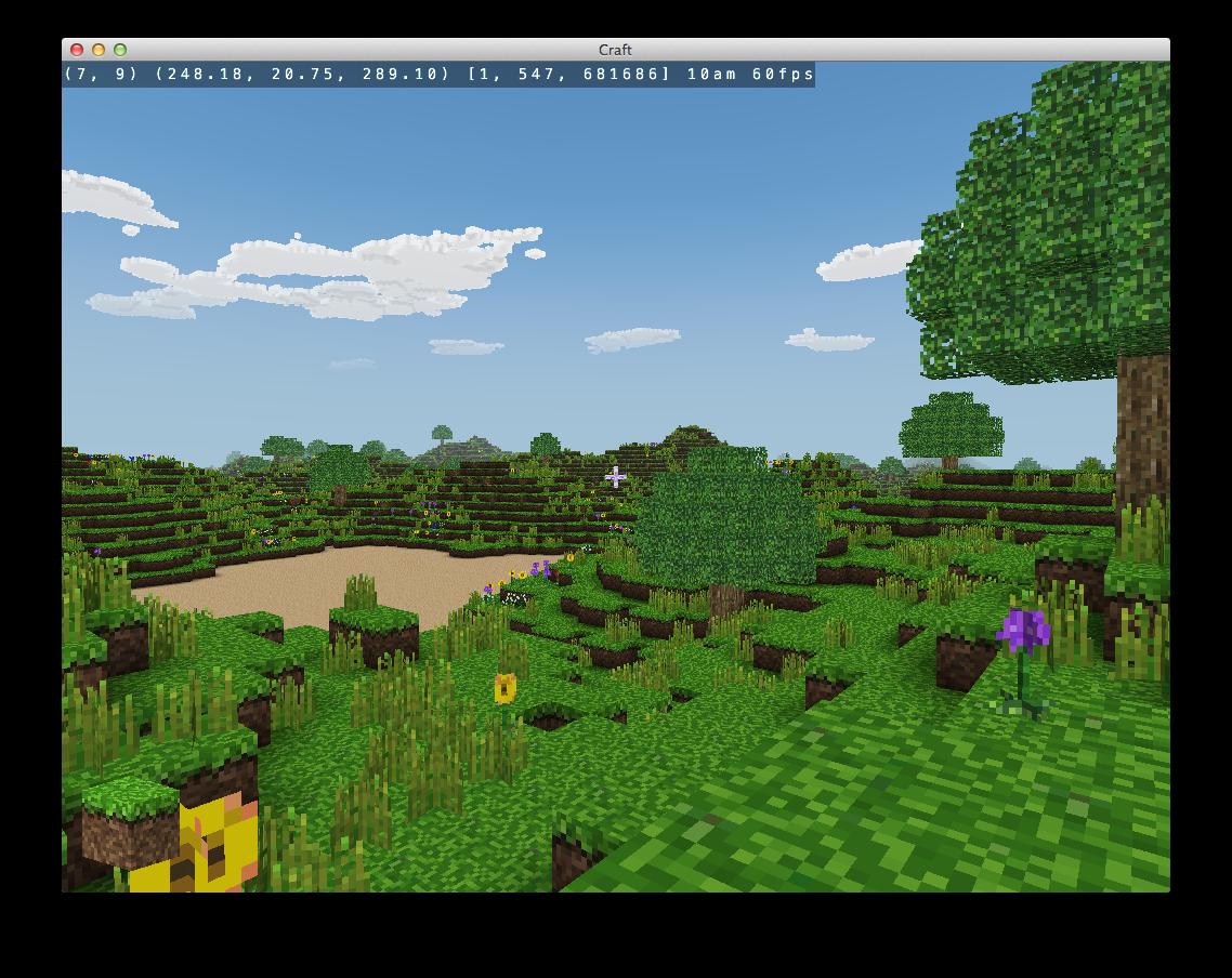 A Simple Minecraft Clone Written In C Using Modern Opengl