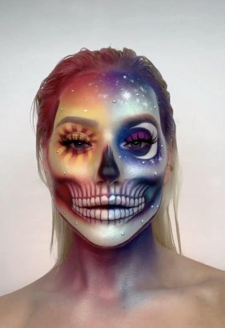 Gabriella Tiktok Amazing Halloween Makeup Creative Halloween Makeup Halloween Makeup Inspiration